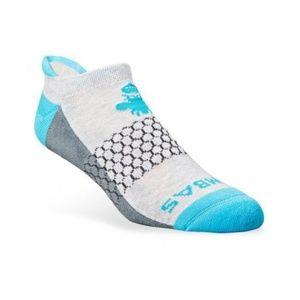 2-Pack Bombas Men/'s Ankle Socks ~Blue-Yellow-Gray~ Honeycomb Size Medium NWT